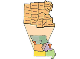 Link to a map of MU Extension's west central region