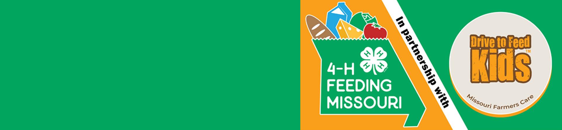 4-H banner for Feeding Missouri campaign