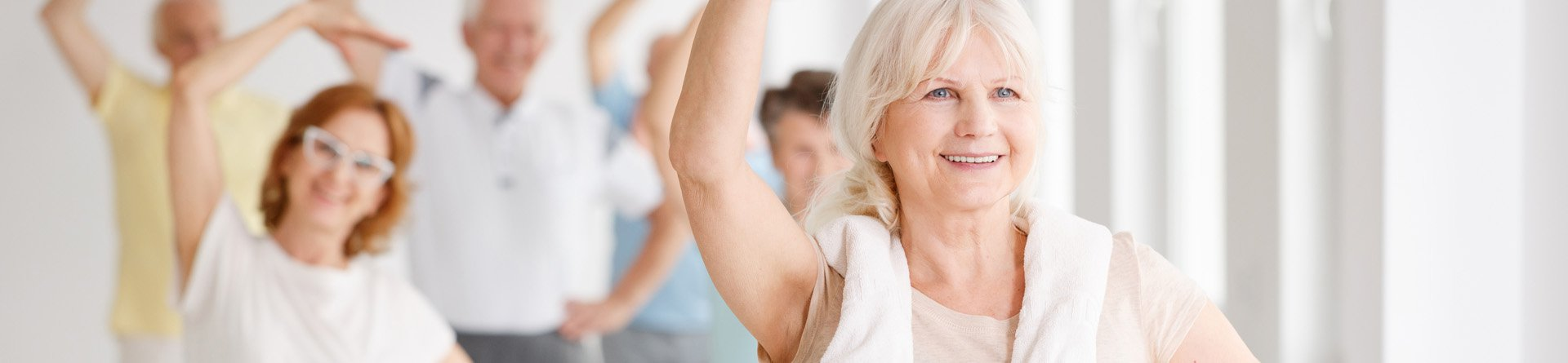 Older adults in exercise class