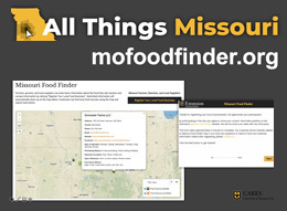 Screenshot of Missouri Food Finder online tool