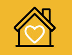 home with heart icon