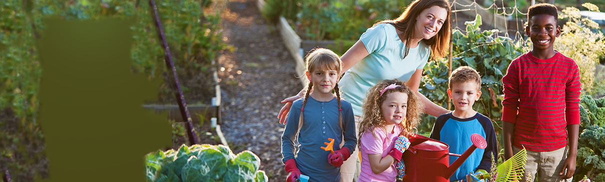 Garden'n Grow for Ages 8-13 woman with kids