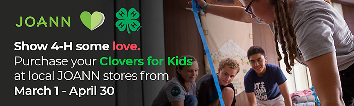 Buy Clovers for Kids at Joann stores from March 1-April 30