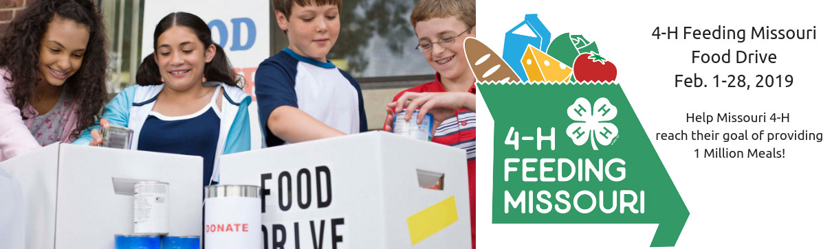 4-H Feeding Missouri food drive