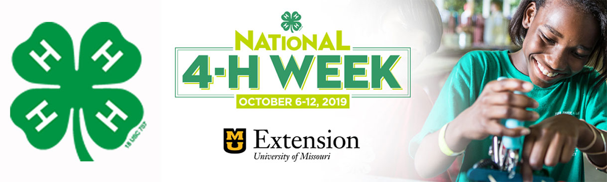 National 4-H Week, October 6-12