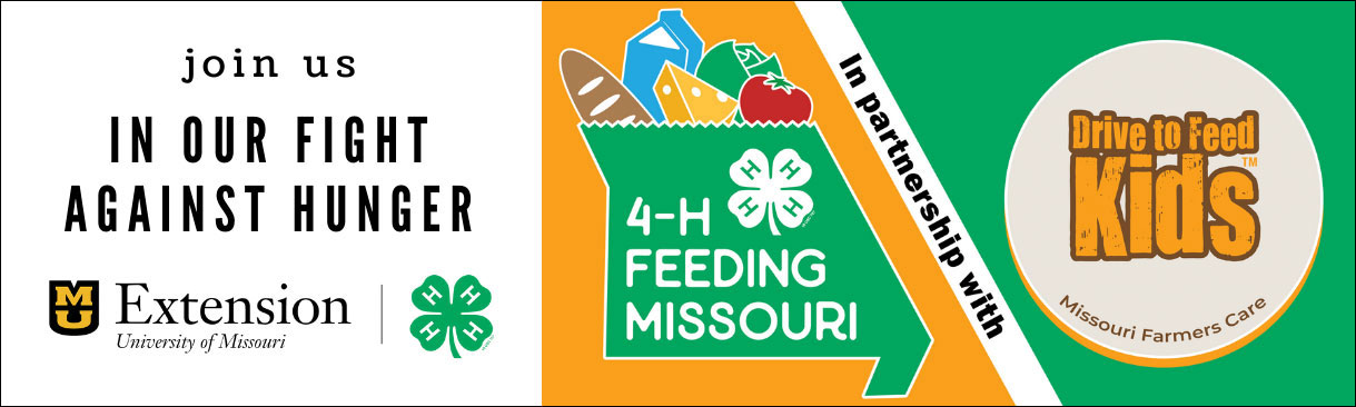 Join us in our fight against hunger. 4-H Feeding Missouri in partnership with Drive to Feed Kids