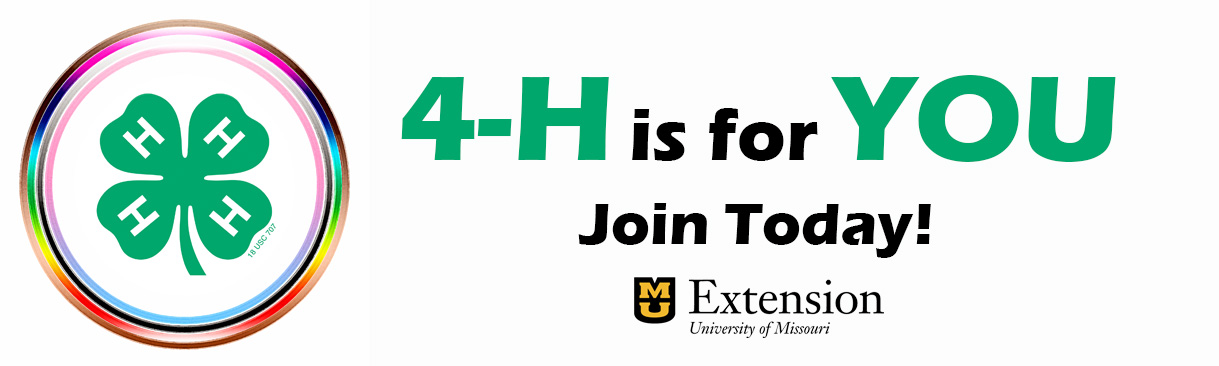 4-H is for YOU. Join today.