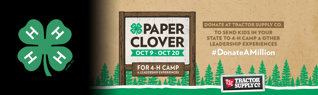 Donate Paper Clovers at Tractor Supply Co Oct 9-20