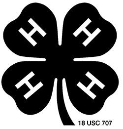 Black 4-H Clover logo