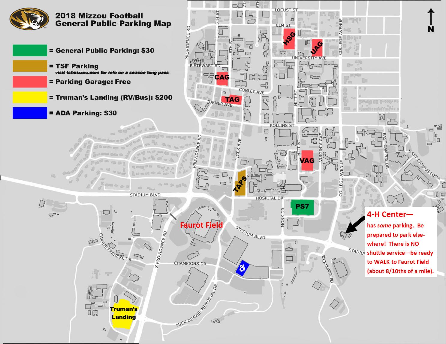 Map of Parking near Farot Field