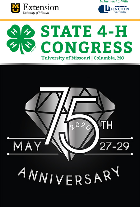 Missouri 4-H State Congress 75th Anniversary logo