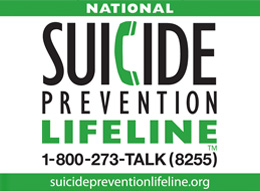 Suicide Prevention Lifeline infographic