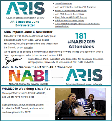 sample ARIS newsletter
