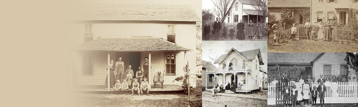 Collage of old farm photos