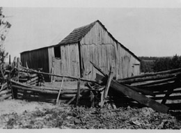 Old photo of barn