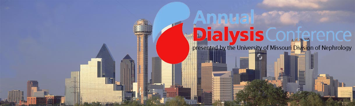 Dallas skyline with Annual Dialysis Conference verbiage
