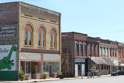 Brookfield storefronts
