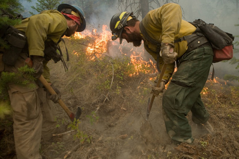 firefighters fighting wildfires