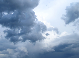 Blue clouds linking to weather resources