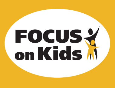 Focus on Kids type with symbol of a parent and child
