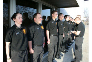 Inspection during the Law Enforcement Training Academy