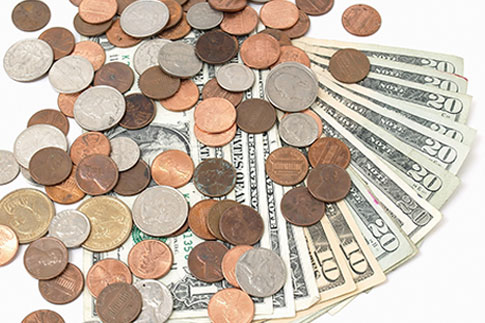 Cash and coins