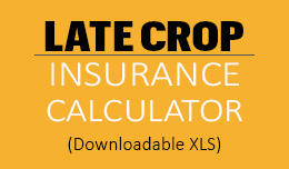 Link to Delayed Planting and Replanting Insurance Evaluator downloadable excel spreadsheet