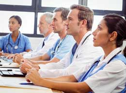 Nursing team at conference
