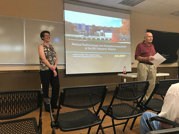 Two instructors teach an Osher class.