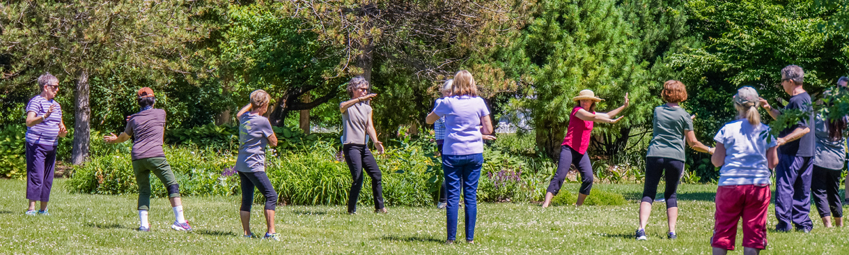 Tai Chi class held outdoors