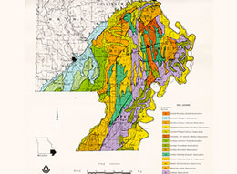 Map of southeast Missouri soil associations
