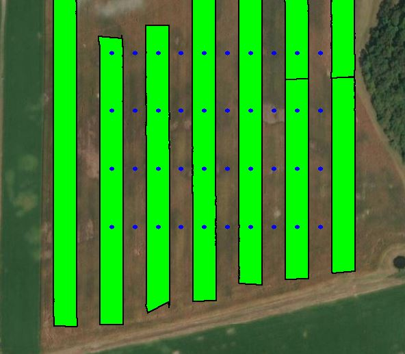 Fungicide trial map layout
