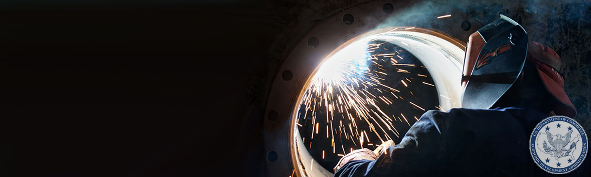 Welder working inside a pipe
