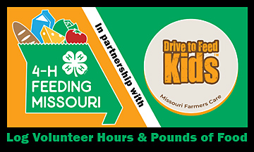 Log volunteer hours and pounds of food